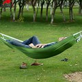New Arrival Portable Hammock Parachute Nylon Fabric Net Hammock Outdoor Traveling Camping Single Person Sleeping Bed Travel Kits