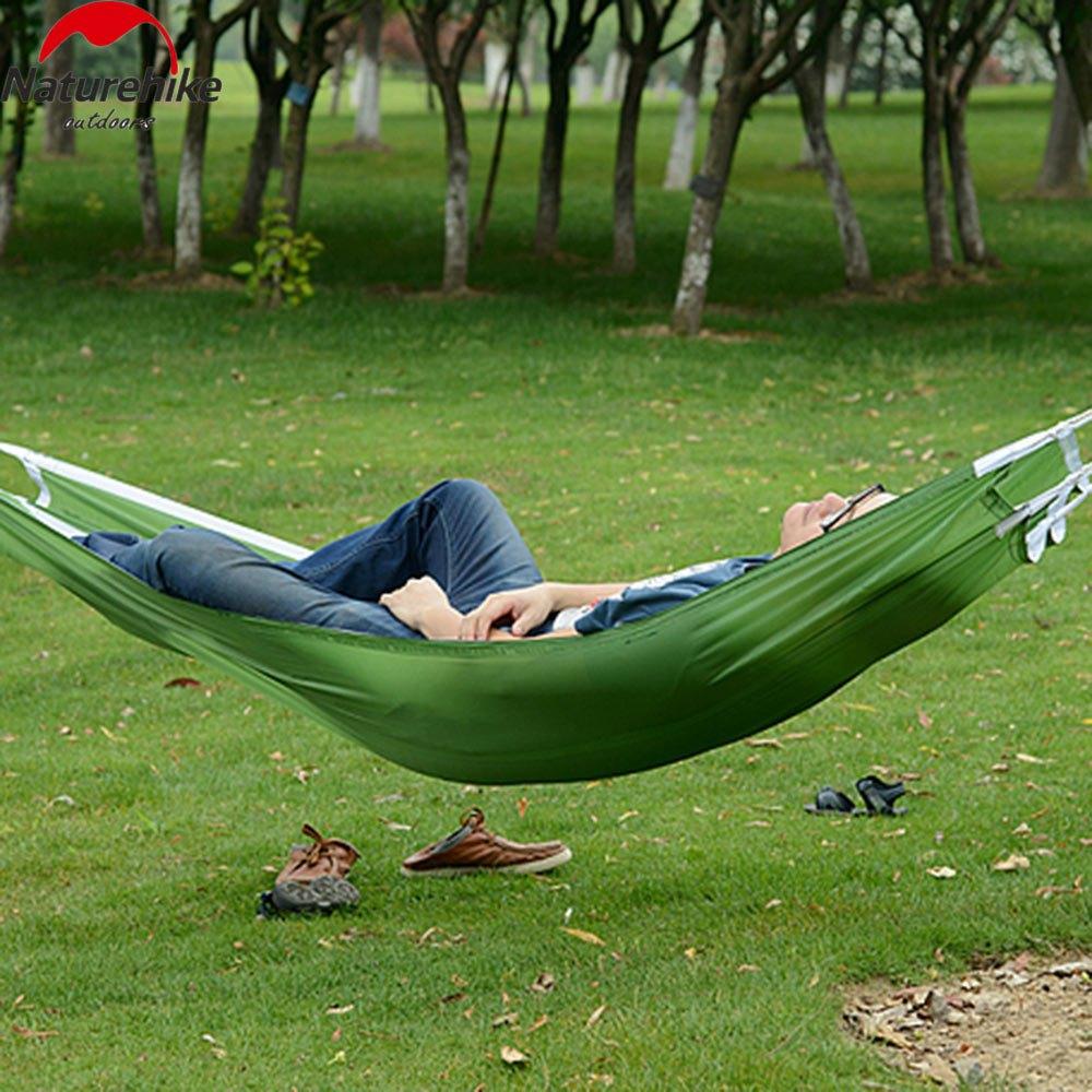 new arrival portable hammock parachute nylon fabric   hammock outdoor traveling camping single person sleeping bed popular parachute nylon hammock buy cheap parachute nylon hammock      rh   aliexpress