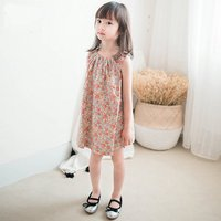 2017 New Summer Flower Brands Baby Girl Dress Red Floral Dress Party Petticoat Infant Party Peter