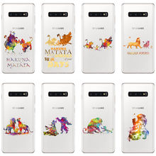 Watercolor Art Lion King Pumba Hakuna Matata Soft TPU Phone Back Cover for Three Galaxy Note9 S6 S7 S8 S9 S10 Plus M10 M20