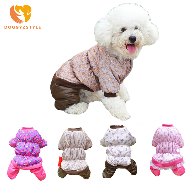 Windproof Dog Jumpsuit Winter Pet Dog Clothes Warm Dog Coat Jacket For Small Dogs Clothing Puppy Cat Overalls DOGGYZSTYLE