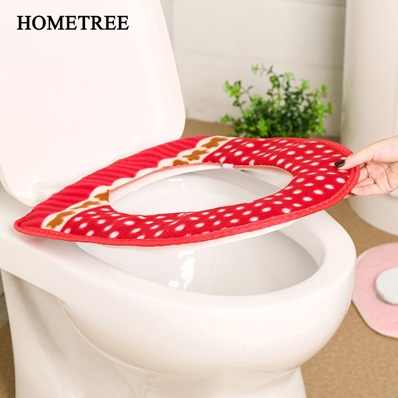 Toilet Cover Seat Lid Pad Bathroom Protector Closestool Soft Warmer Accessories