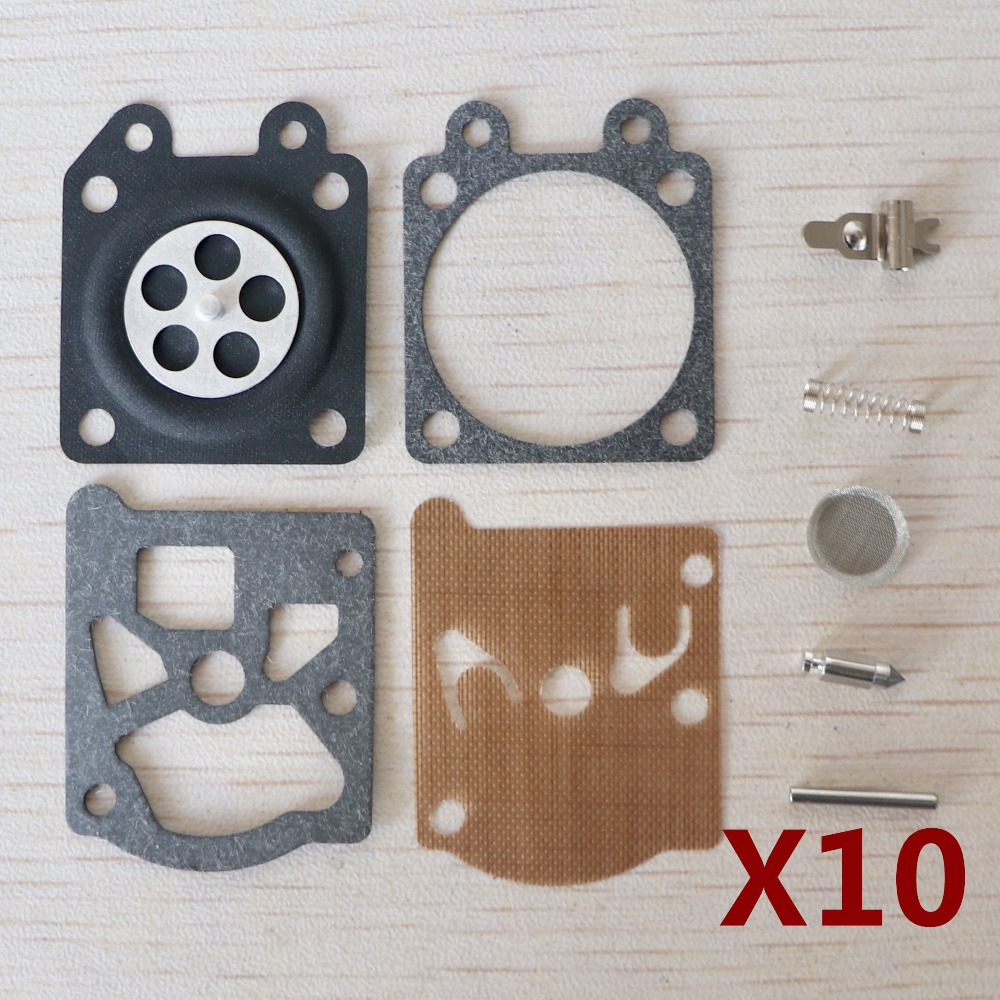 10 SETS Walbro Carburetor Repair Kit for STIHL MS180 MS170 <font><b>MS</b></font> <font><b>180</b></font> <font><b>MS</b></font> 170 017 018 Chainsaw Replacement parts image