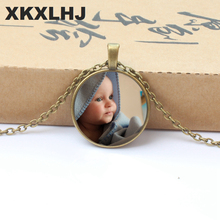 XKXLHJ New Personalized Photo Necklace After Your Baby Child Mom Dad Grandparents Like Family Gifts Private Custom