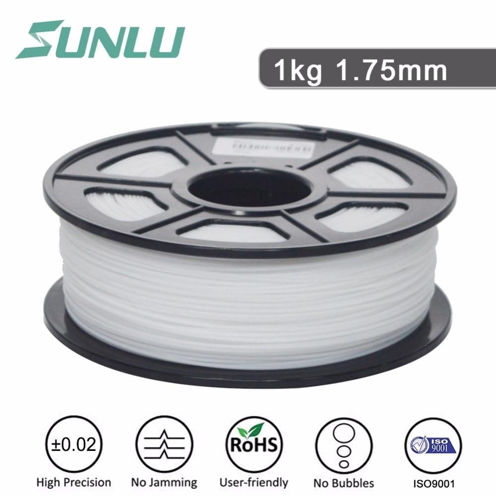 free ship SUNLU 3D Printer PLA Filaments 1.75mm Grey Color 1KG 2.2LBS Spool Dimensional Accuracy +/- 0.02mm PLA Grey Filament
