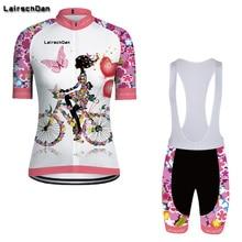 SPTGRVO Lairschdan 2019 طقم جيرسي الدراجة الوردي للنساء مجموعة ملابس الدراجات بدلات قصيرة مجموعة ملابس ركوب الدراجات مجموعة ملابس الصيف الجبلية