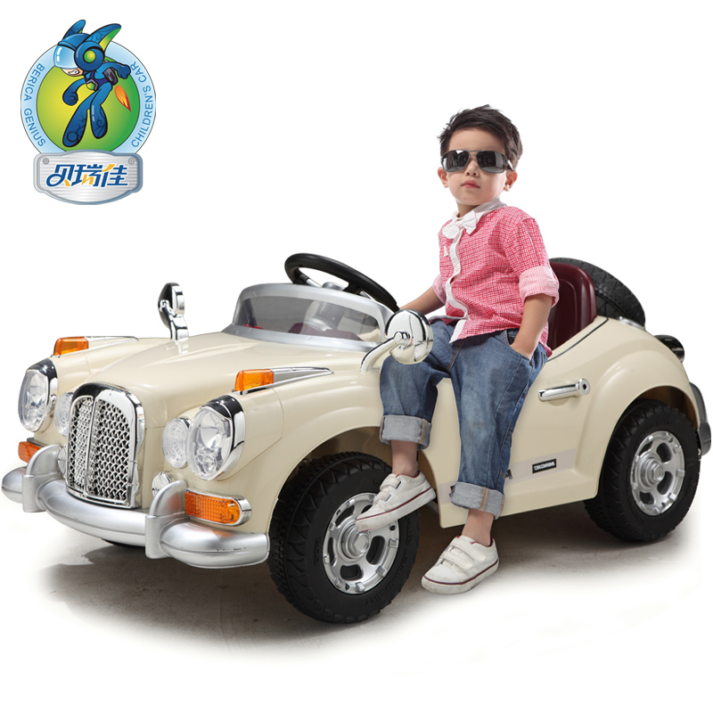 Child Electric Bicycle Stroller Four Wheel Double Remote Control Car Clic Baby Toy