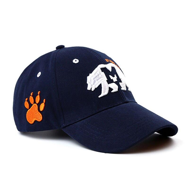 Nuovo Unisex di Alta Qualità California Orso Berretto Da Baseball di Snapback Casual Gay Moda Cap Orso Zampa Hip-Hop Cappello Circonferenza: 57-62 cm
