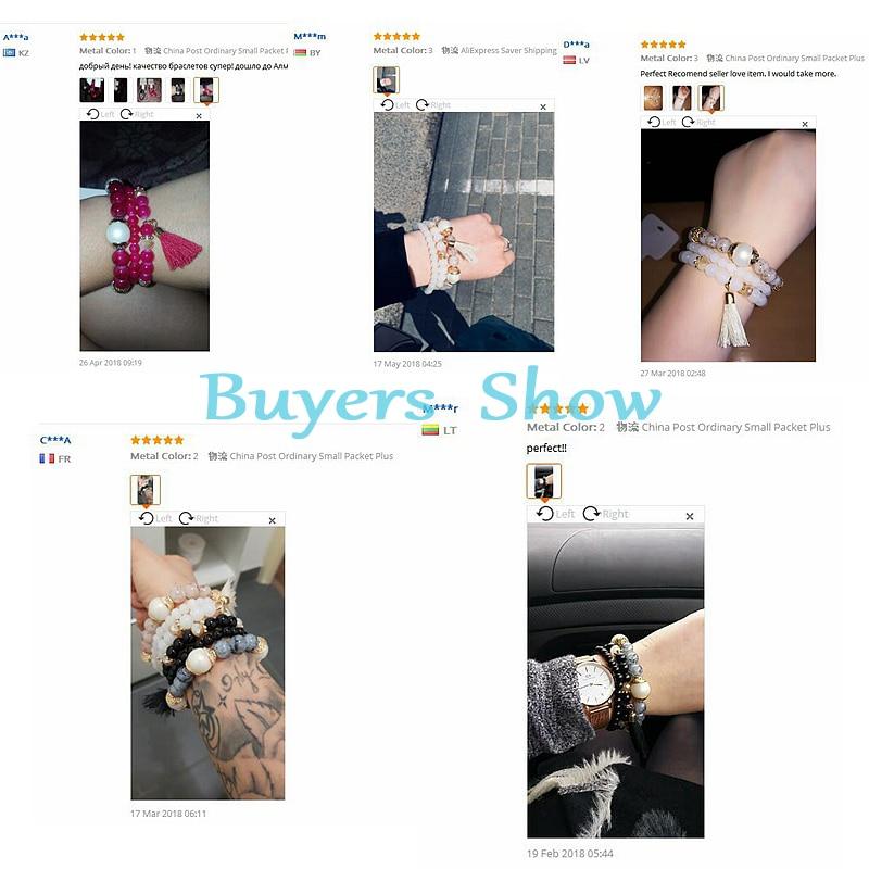 Amader 19 Spring Summer Fashion Women's Bracelet Set 3Pcs/Lot High Quality Charm Beads Bracelet Jewelry For Ladies HXB002 21