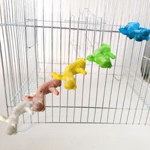 Pet Parrot Bite Hanging Toys Game Wood Bird Cage Branch Stand Holder Parrots Toy