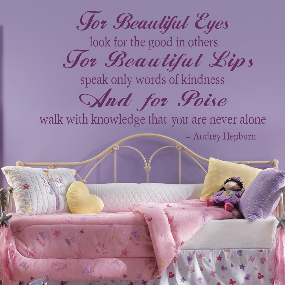 Audrey Hepburn For Beautiful Eyes Beautiful Lips, And