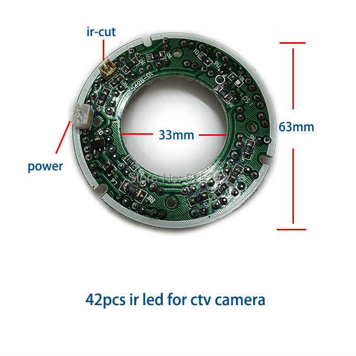 اقتصادا 42 قطع مزيج درجة ir المصابيح للكاميرا cctv مع لمسافات طويلة