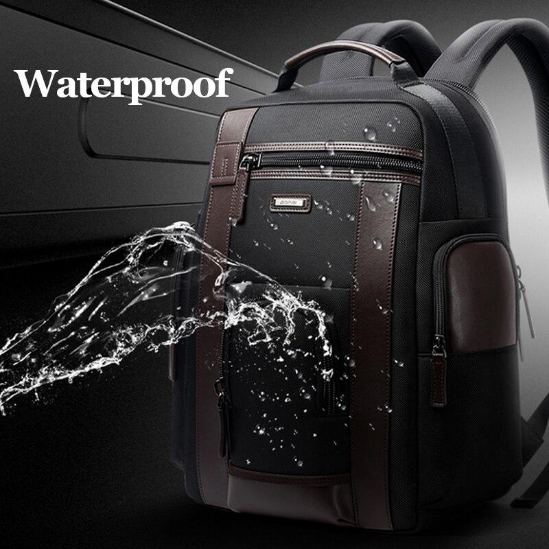 Bopai New Black Multi Pocket Men Backpack Business Solid Nylon Men Daypacks Mochila Bags Convenient Usb Charging Backpack Women #5