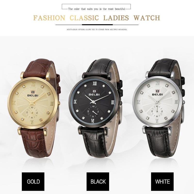 2016 mujeres de Belbi Brand reloj de la manera señoras relojes - Relojes para mujeres