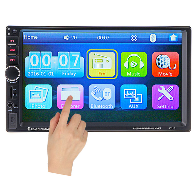 Car Video Player 7 Hd Touch Screen Bluetooth Stereo Radio Fm 1080p