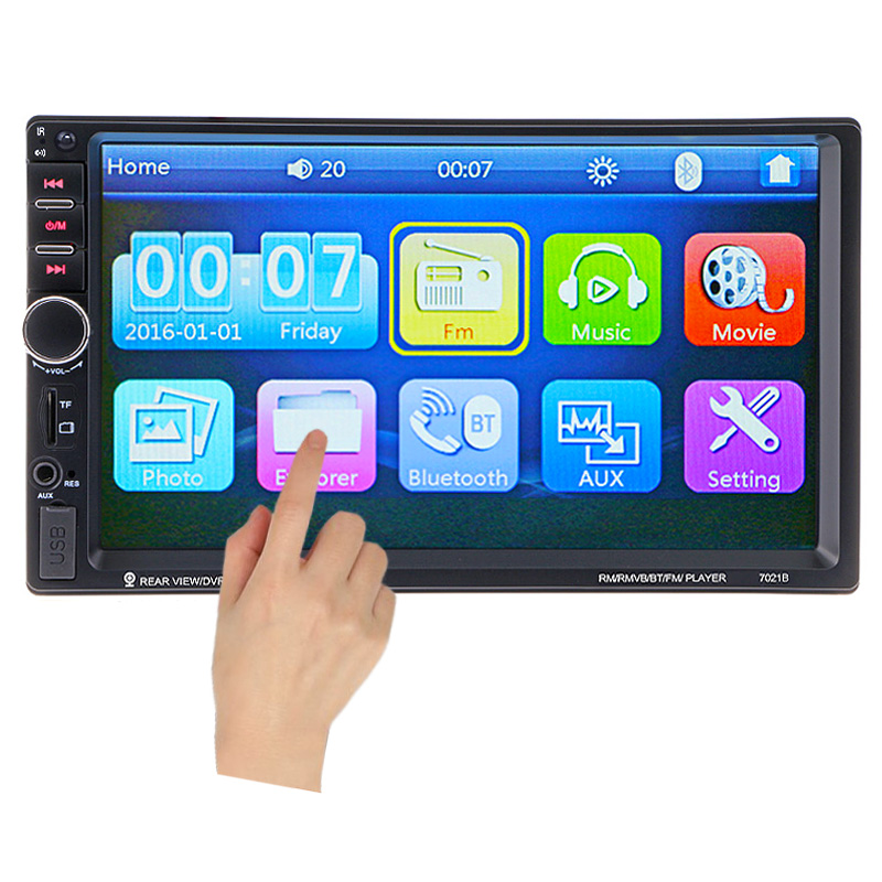 Car Video Player 7 HD Touch Screen Bluetooth Stereo Radio FM 1080P MP5 MP4 MP3 font