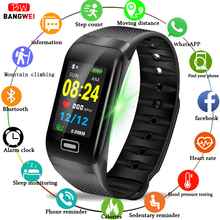 BANGWEI Fitness smart watch men Women Pedometer Heart Rate Monitor Waterproof IP67 Swimming Running Sports Watch For Android IOS