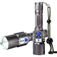 New Bright 2000 Lumens USB Port CREE XML XM L T6 LED Flashlight Torch 5 Mode