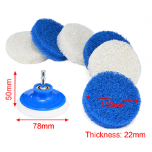 7pcs Bathroom Home Cleaning Drill Accessory Kit Nylon Scrub Pads Brush For Windows Hard Water Stains Cleaning Mayitr