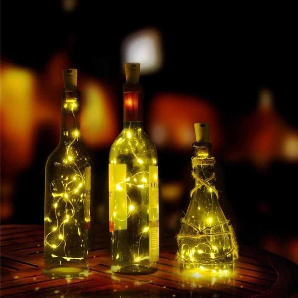 Solar Powered Wine Bottle Stopper Lamp LED String Lights LED Party Xmas Lamp Garden Yard Decorative Lamp