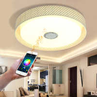Moderna intelligente di musica di Bluetooth luce led lampada da soffitto camera da letto luce del telefono mobile APP + telecomando, luce di soffitto rotonda