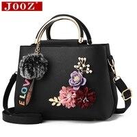 JOOZ 2018 kleur bloemen shell vrouwen tote Lederen Clutch Bag Dames Handtassen Merk Vrouwen Messenger Bags Sac Een Femme