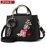 JOOZ 2018 Color Flowers Shell Women S Tote Leather Clutch Bag Ladies Handbags Brand Women Messenger