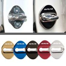Стайлинг автомобиля, чехлы для дверных замков для Toyota RAV4, защитные и декоративные наклейки для автомобильных аксессуаров