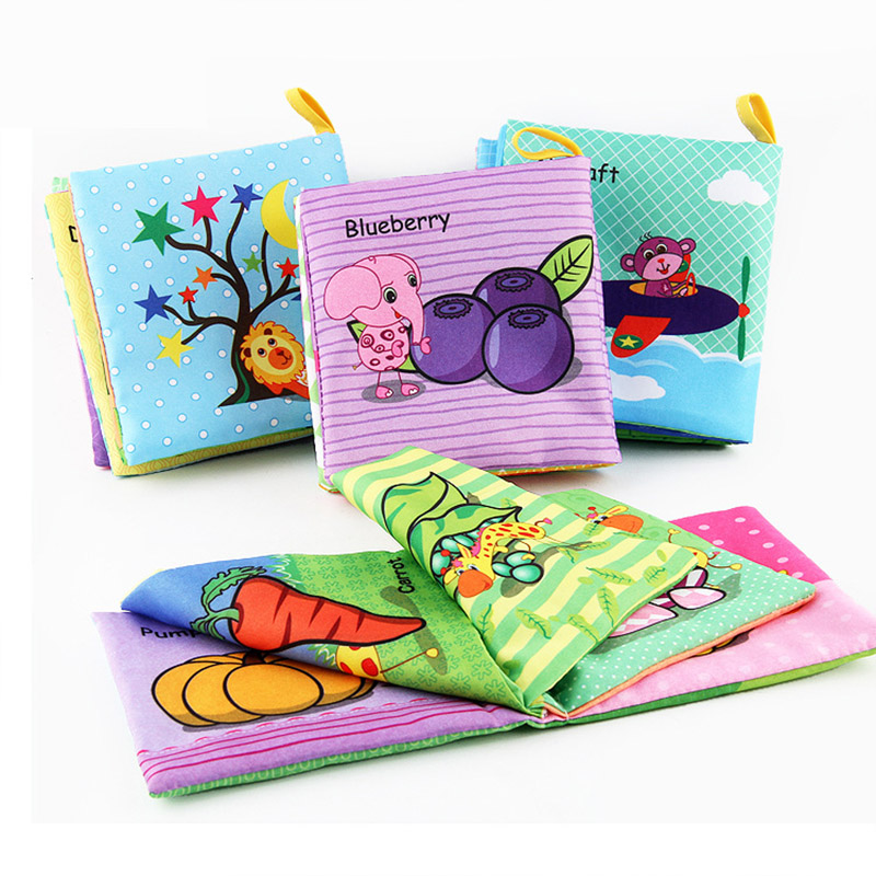 Soft Cloth Books Baby Rustle Sound Infant Educational 4 Style Stroller Rattle Toys For Boys Newborn Crib Bed Baby Toys Cognition in Baby Rattles Mobiles from Toys Hobbies