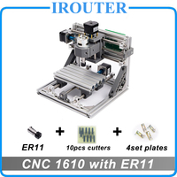 CNC 1610 с ER11, Мини diy гравировальный станок, Pcb фрезерный станок, Фасонная фреза, cnc1610, самые передовые игрушки