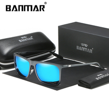 BANMAR Square Sun glasses Men Female Aluminum Magnesium Sunglasses Polarized Oculos De Sol Shades For Male