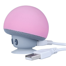 Bluetooth speakers Creative design MINI cartoon small mushroom head with its own sucker high-definition call hands-free function цена