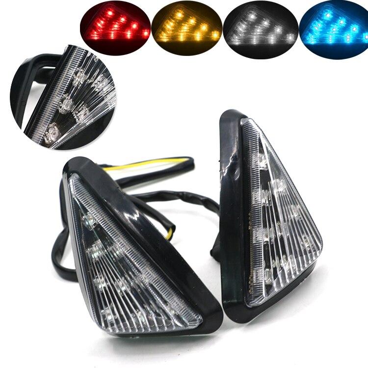 Мотоцикл указатели поворота желтый 11 светодиодные сигнальные лампы для Honda <font><b>CBR600RR</b></font> 2003-2006 DC 12 В motocicleta ligero