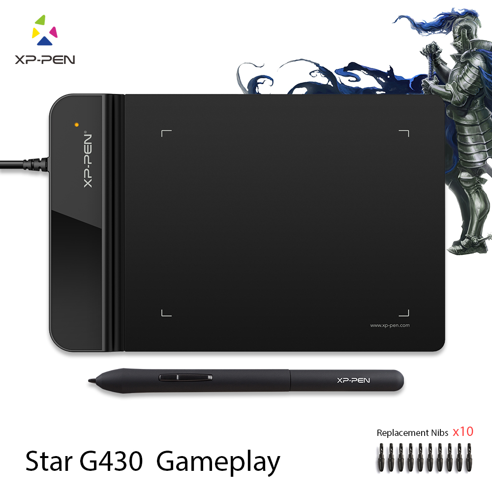 XP-Ручка G430 4x3 дюймовый Ультратонкий Графический Рисунок Таблетка для Игры ОГУ и батареек стилус дизайн! геймплей