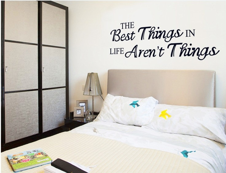 60*45CM DIY Motivation Quote Wall Stickers Home Decor Living Room Funny  Quote Wall Art Sticker Home Decoration Accessories Y58 In Wall Stickers  From Home ...
