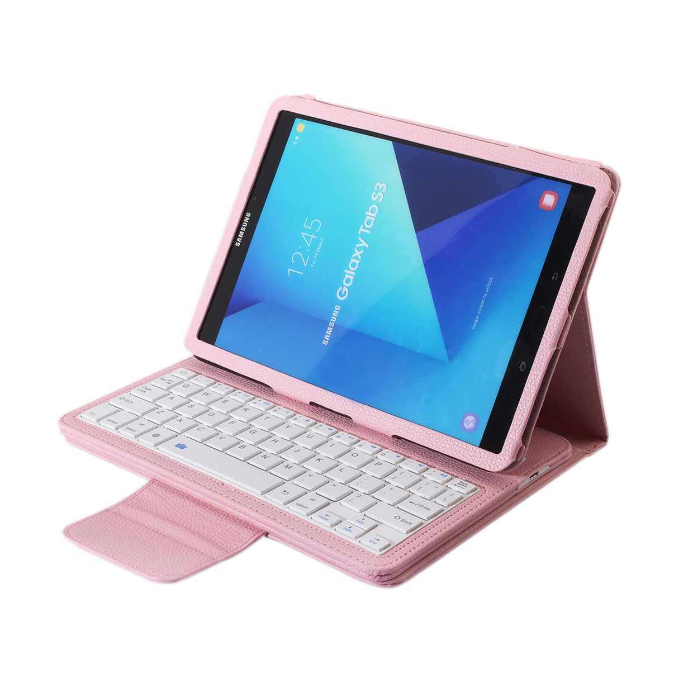 Voor Samsung Galaxy Tab S3 9.7 Draadloze Bluetooth Toetsenbord Geval Voor Galaxy Tab S3 9.7 T820 Tablet Flip Leather Stand cover + Stylus