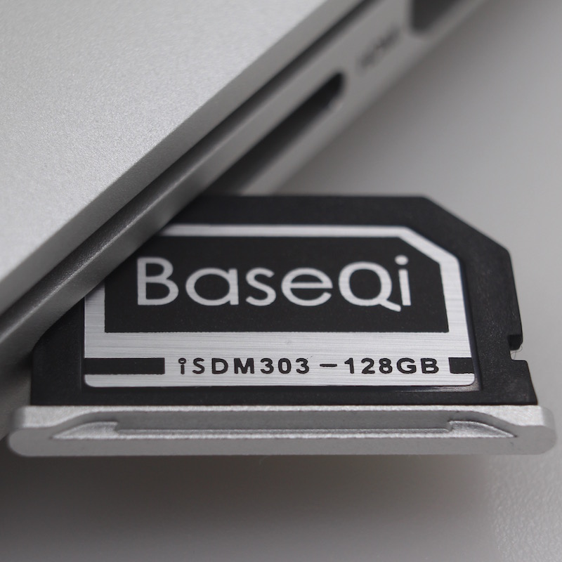 BASEQI Aluminum 128GB Storage Expansion Card for MacBook Pro Retina 13 expansion card em at1 for mic 1a meter