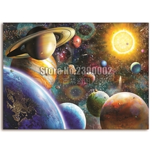 5D DIY Diamond painting Planets in Space Full embroidery Cross Stitch Outer landscape Rhinestone Mosaic Christmas
