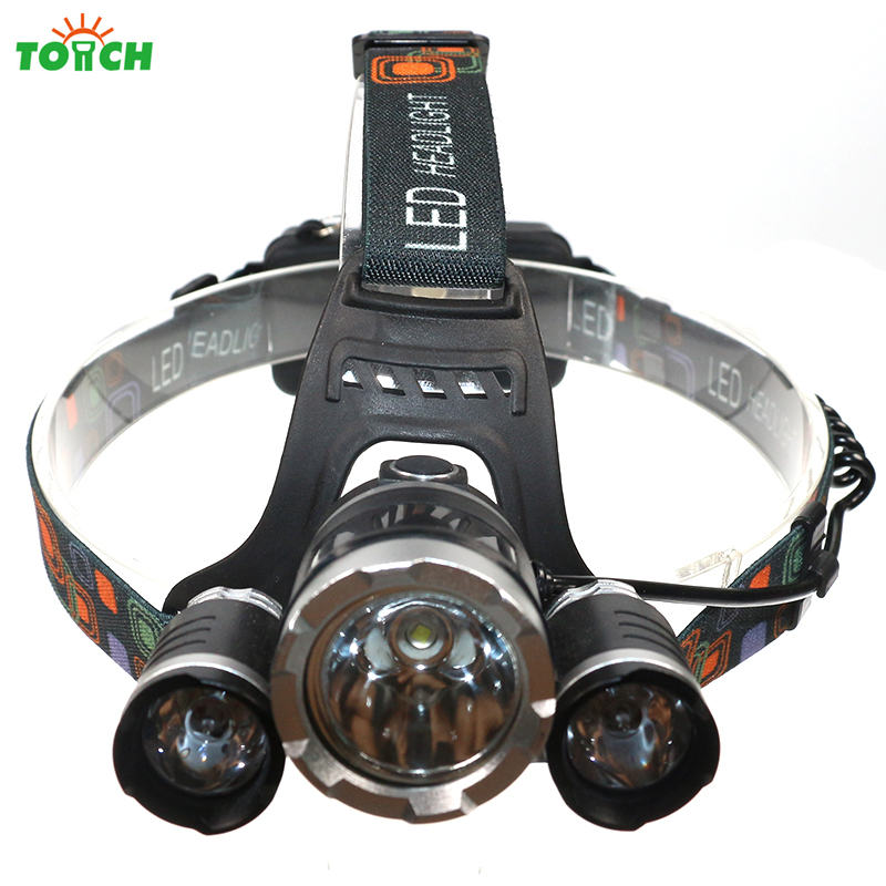 Led Spotlight Headlamp: Waterproof Headlamp CREE XML T6 6000 Lumens 4 Mode LED