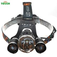 Waterproof Headlamp CREE XML T6 6000 Lumens 4 Mode LED Headlight Led Rechargeable Hunting Spotlight Lamp Head Light 18650 7028
