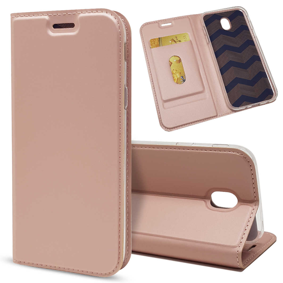Do Samsung Galaxy J3 J5 J7 2017 J530 J730 ue eurazjatycka wersja przypadku SKÓRZANY PORTFEL odwróć Slot kart uchwyt na stojak do telefonu pokrowiec