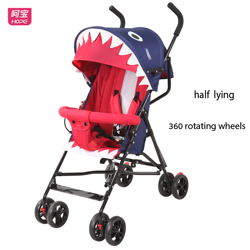 HOPE Baby Stroller Newborn Baby Carriage Summer Portable Lightweight Stroller Half Lying Umbrella Car Pram Easy Folding Buggy baby stroller ultra light portable shock absorbers bb child summer baby hadnd car umbrella
