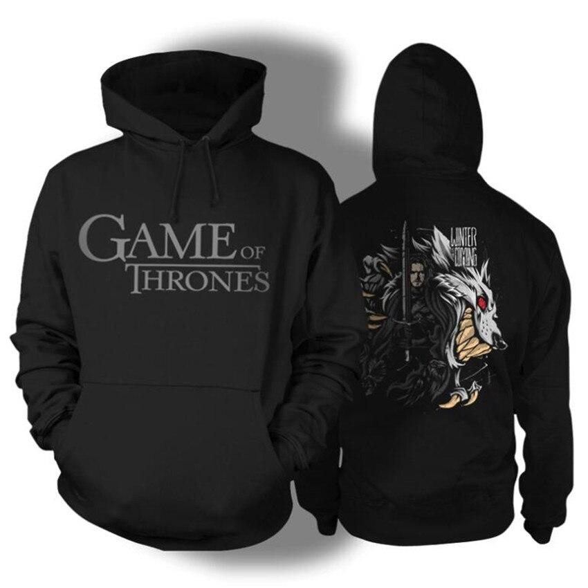Film jeu de trônes Jon Snow Man Cosplay Costumes pull à capuche imprimé sweats capuches mode manteau