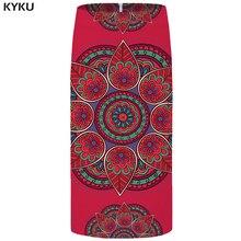 цена на KYKU Flower Skirts Women Graphic Red Skirt Party Vintage 3d Printed Cool Pencil Ladies Skirts Womens Japanese Short Casual 2018