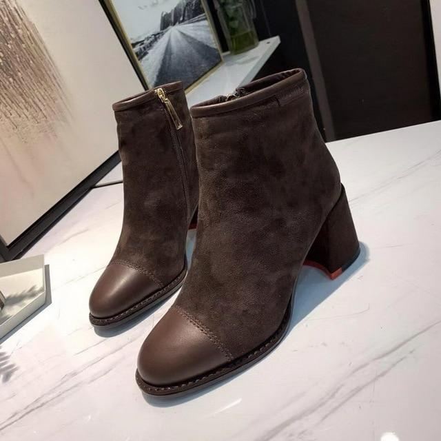Neue stil winter stiefel frauen 2018 Neue stil high-end-mode und luxus samt stiefel größe 35-41 kostenloser transport
