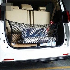 Image 4 - Für Toyota Vellfire Alphard Auto Lkw Lagerung Tasche Gepäck Netze Haken Organizer Dumpster Elastische Net Mesh Abdeckung Zubehör
