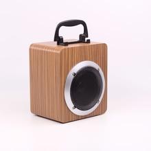 Wooden Portable 15W Fashion Wireless Bluetooth Retro Speaker 3D Dual Loudspeaker Surround Mini USB Charging