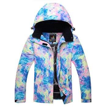 2019 traje de esquí de invierno para las mujeres caliente esquí chaqueta al aire libre transpirable chaqueta de snowboard y esquí impermeable a prueba de viento 10000
