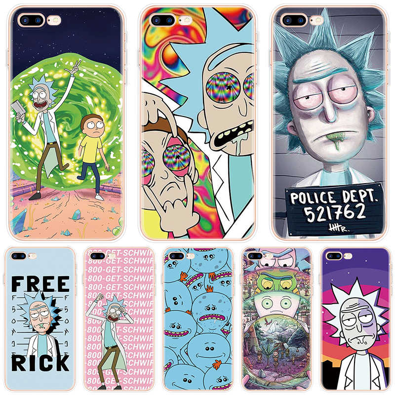 Rick e morty caso para iphone x 11 pro xs max caso para iphone 6 s 5 5S se 7 8 plus capa para iphone 10 xr para iphone 7 8 plus
