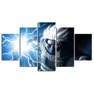 Home Decor Canvas Prints Painting Modular Picture 5 Pieces Animating Naruto Kakash Poster Framework Wall Art Bedside Background(China)